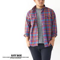 KATO' BASIC[カトー ベーシック] ツイルマドラスワークシャツ [BS830072] ネルシャツ・ワークシャツ・綿シャツ・長袖シャツMEN'S - refalt blog