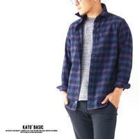 KATO' BASIC[カトー ベーシック] ソフトチェックレギュラーシャツ [BS832092] ネルシャツ・ワークシャツ・綿シャツ・長袖シャツMEN'S - refalt blog