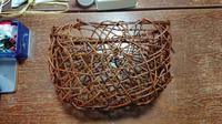 籠編み教室12月 - 古布や麻の葉