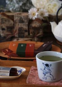 虎屋さんの羊羹でお茶タイム - ゆきなそう  猫とガーデニングの日記