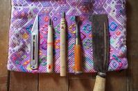 道草屋の木彫りスプーンの道具。 - 手作り生活~道草日記~