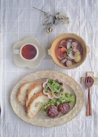 ハンバーグの朝ごはん - 陶器通販・益子焼 雑貨手作り陶器のサイトショップ 木のねのブログ