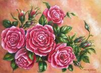 薔薇の油絵 - 油絵画家、永月水人のArt Life