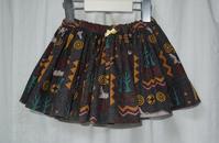 388.黒赤のスカート - フリルの子供服