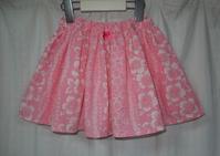 389.ハイビスカスのスカート - フリルの子供服