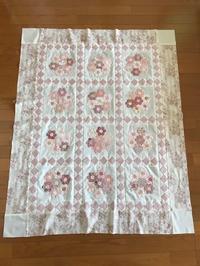 シュガーピンクの花束・トップ完成しました^^ - キルトで幸せな毎日を