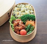 鶏唐チリソース弁当 - 男子高校生のお弁当