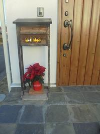 真っ赤な葉と緑の葉っぱ。玄関先で、ウェルカムプランツ! - 初ブログですよー。