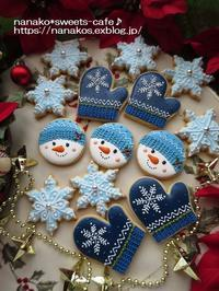 クリスマスのアイシングクッキー*青いクリスマス - nanako*sweets-cafe♪