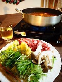 モッツァレラチーズ入りイタリア風なべしゃぶ(ガーリックトマトつゆ) - Kitchen diary