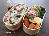 蛸と枝豆ご飯&豆腐ハンバーグ弁当 - 男子高校生のお弁当