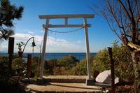 館山市 洲崎神社 この日は富士山の見えない鳥居 - 日本あちこち撮り歩記