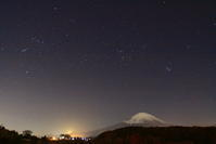 30年11月の富士(29)小山町の夜の富士 - 富士への散歩道 ~撮影記~