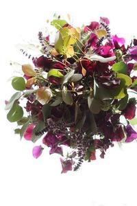 渋かわ、エアリーなブーケ♪そしてツインのコンポジション - お花に囲まれて