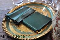 イタリアンレザー・ブッテーロ・マネークリップと2本差しペンケース・時を刻む革小物 - 時を刻む革小物 Many CHOICE~ 使い手と共に生きるタンニン鞣しの革