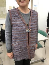 着物の裂き織りリメイクベスト @みんなの作品 - 手染めと糸のワークショップ