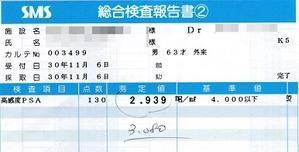 62. 手術後(四年間)のPSA値の推移 - 新・前立腺肥大の日記
