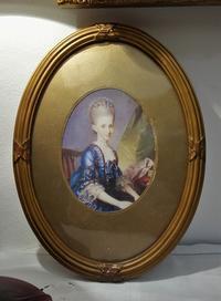 木製金彩楕円額837 - スペイン・バルセロナ・アンティーク gyu's shop