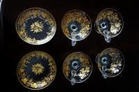 金彩入りポンチグラス95と深小皿8 - スペイン・バルセロナ・アンティーク gyu's shop