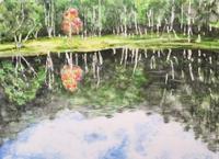 【水彩画】A reddish tree 〈completed〉 - ジェンマとおっちゃんの日記2
