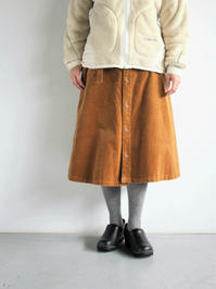 GRANDMA MAMA DAUGHTERCORDUROY FRONT BUTTON SKIRT / CAMEL - 『Bumpkins putting on airs』