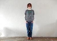 takuroh shirafujiのYES, Remake Border T-shirts(One off) - SHIRAFUJI-BLOG