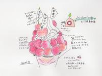 さくらんぼのフルーツパフェ -山形天童・王将果樹園- - 続・まいにちわたし