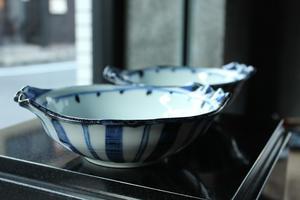 廣永窯  染付鳥文スープ皿 - うつわや釉