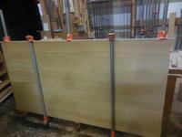 ダイニングテーブル接ぎ合わせ2回目。 - 手作り家具工房の記録