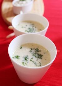ミックスビーンズの豆乳スープ - おいしい便り