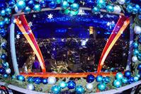 クリスマス・デコKYOTO TOWER展望台 - Blue Planet Cafe  青い地球を散歩する