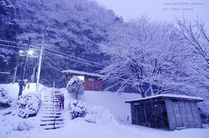 雪の降り続く駅で - ローカル鉄道散歩