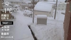 2018/12/11 雪が止まない -