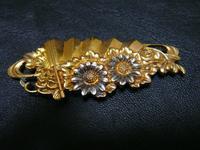 アンティーク18金の帯留め扇と菊の図 - アンティーク(骨董) テンナイン