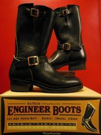 Attractions 新型 WEARMASTERS Lot.444 ENGINEER BOOTS(HORSE BUTT)エンジニアブーツ/BLACK/初回限定ゴールドバックル - ROCK-A-HULA Vintage Clothing Blog