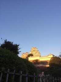 姫路城の夕暮れ(ちょっと前) - in my humble opinion