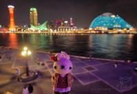 [ぬい撮り] 神戸のベイエリアの夜景とあみぐるみうさぎさんなど♪ - Smiling * Photo & Handmade 2 動物のあみぐるみ・レジンアクセサリー・風景写真のポストカード