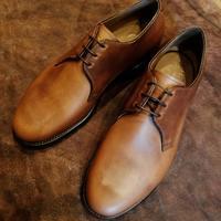 【Hiroshi Arai】ホーウィン社クロムエクセルレザー、プレーントゥダービー - Shoe Care & Shoe Order 「FANS.浅草本店」M.Mowbray Shop