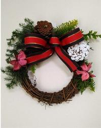【flowerNEJIレッスン】クリスマスリース - flower NEJI