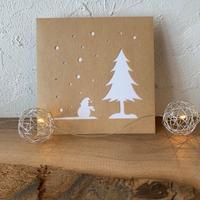 新作その2雪だるまと木 - シロリス