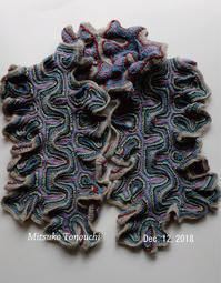 フィヨルド・スカーフLike a fjord... - 糸始末な日々         Thread&Yarn Handing Days