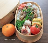 生姜千切り焼き弁当 - 男子高校生のお弁当