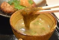 沖縄ではポピュラーなもずくのお味噌汁 和dining川根政健 - 今日はなに食べる? ☆大阪北新地ランチ