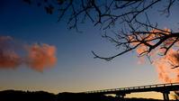 蓬莱橋夕月夜 - 長い木の橋