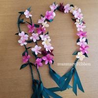 Ti lei Plumeria - manmaru Ribbon ~ Pili aloha Lei Making ~