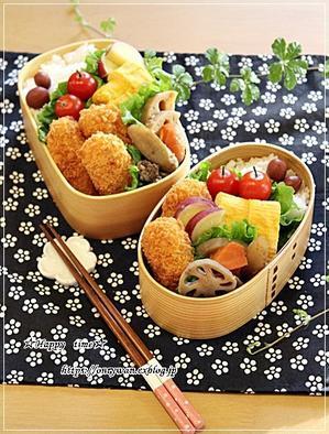 カニコロッケ弁当と今夜はあんかけ焼きそば♪ - ☆Happy time☆