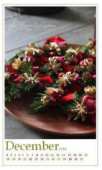 12月のカレンダー「音楽の殿堂にクリスマスデコ」 - Bloom&Grow通信「芦屋から 季節の色と香りに包まれた贅沢な毎日」