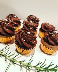 ミニミニチョコレートカップケーキ - 黒豆日記