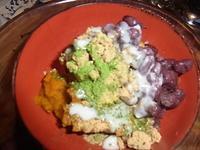 かぼちゃと小豆と黒ごまきな粉にココナッツミルク - 自然からの贈り物/草木染め