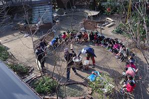 もちつき。ー平成30年度ー - 陽だまりの小窓 - 菊の花幼稚園保育のようす